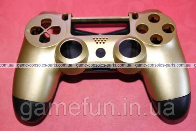 Корпус джойстика PS4 Dualshock 4 JDM-011 (Золотий) (Преміум)