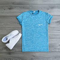 Футболка Nike стрейчевая голубая, мужская одежда