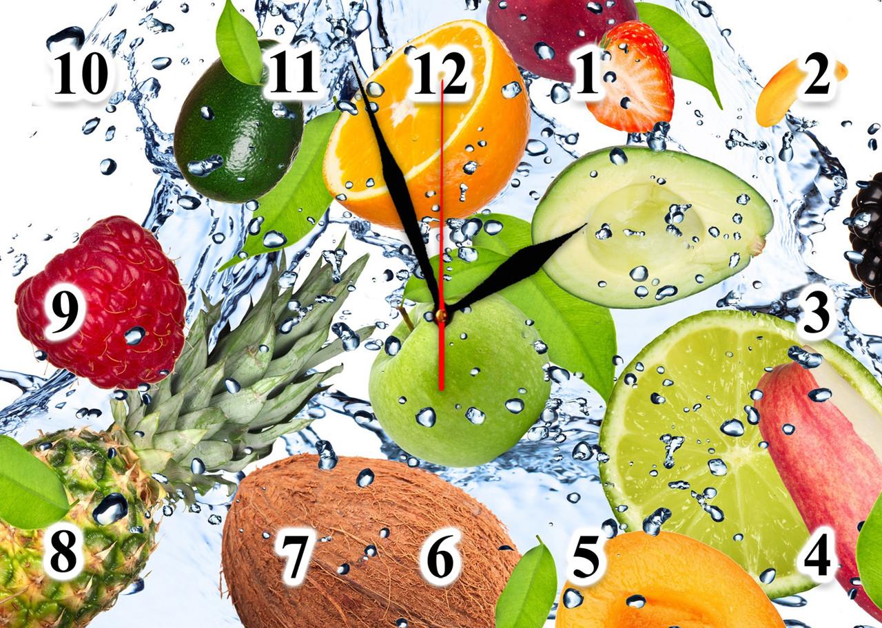 "Годинники настінні скляні ""Tropical freshness"""