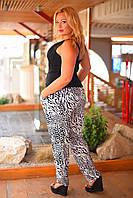 Стильные легкие женские  брюки большого размера 50-58.  Ткань масло (холодок)Хит ЛЕТА!