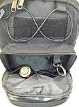 Тактичний рюкзак однолямочный. Чорний, мультикам, олива, койот (пісок), фото 8