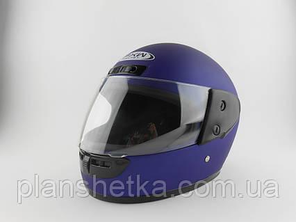 Шоломи для мотоциклів Hel-Met 101 синій мат, фото 2