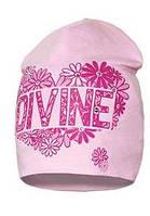 """Модная шапка для девочки """"Divine"""" розового цвета."""