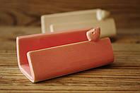 Визитница керамическая, розовая. Украина, фото 1
