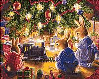 """KHO 2452 """"Рождественская сказка""""  Роспись по номерам на холсте 40х50см (без коробки)"""