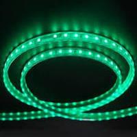 Светодиодная лента 5050smd 220V IP68 зеленая 60 led