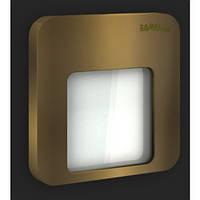 LED светильник MOZA Накладной 14V DC Стар. золото Красный  01-111-43