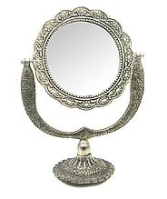 Настольное круглое зеркало Серебро