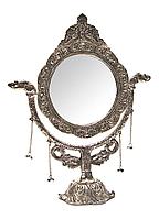 Настольное красивое зеркало Серебро