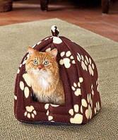 Мягкий домик-подстилка Pet Hut для собак и кошек, фото 1