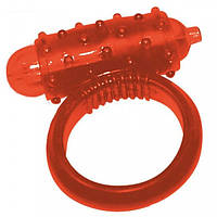 Кольцо эрекционное с вибрацией Vibro Ring Red Silikon