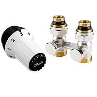 Комплект радиаторных терморегуляторов для нижнего подключения прямой 013G5277