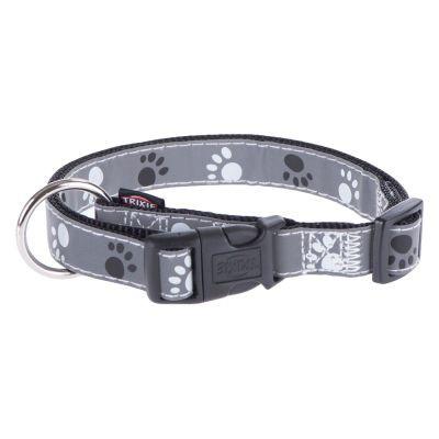 Trixie TX-12221 ошейник для собак Silver Reflect Collar 22-35 см