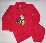 Пижама на девочку махровая Турция розовая 140 р.., фото 2