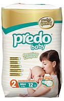 Подгузники Predo Baby Mini 2 Small 3-6 кг 12 шт