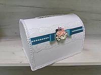 Свадебная казна для денег для бирюзовой свадьбы, фото 1