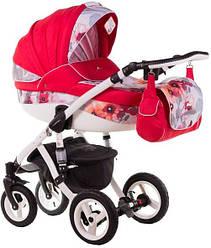 Детская коляска универсальная 3в1 Adamex Aspena Акварель 86G (Адамекс Аспена, Польша)