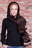 Шапка-шарф з норки, фото 1