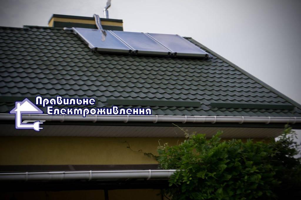 Сонячна геліосистема нагріву води + поєднання із системою опалення с. Запитів