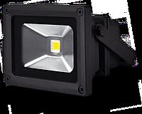 Светодиодный прожектор PGS-20W, 1600lm, 6500К холодный белый, 120º, IP65, чёрный