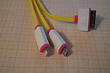 Універсальний USB-кабель з трьома висновками micro USB, iPhone 4, Apple Lighting iPhone 5 - 6, фото 2