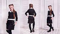 Детское платье для девочки с белым воротником в расцветках КЛ232