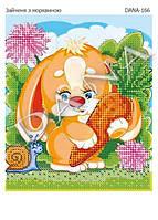 """Схема для вышивания бисером  """"Зайченок с морквой"""" 166"""