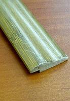 Молдинг д/отделки верх, декор 1850х30х8 мм серо-зеленый