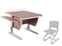 Детская парта трансформер ДЕМИ СУТ 12-02 (14-02) +стул Деми СУТ 01. Гарантия 3 года.