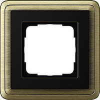 Рамка 1-пост. GIRA ClassiX бронза/чёрный