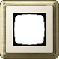 Рамка 1-пост. GIRA ClassiX бронза/кремовый