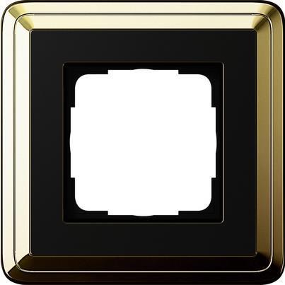 Рамка 1-пост. GIRA ClassiX латунь/чёрный