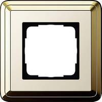 Рамка 1-пост. GIRA ClassiX латунь/кремовый