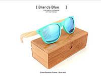 Солнечные очки с деревянными дужками Style Ice Blue W014