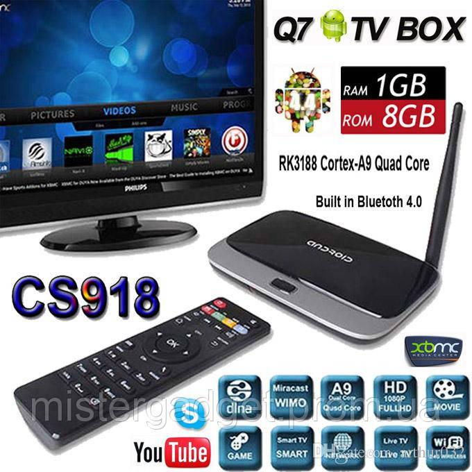 ТВ приставка TV Box CS918 Android Q7 : цены, характеристики, отзывы