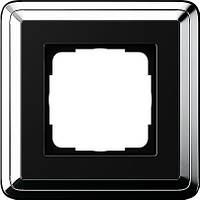 Рамка 1-пост. GIRA ClassiX хром/чёрный