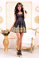 Платье Шедевр с кружевом золотое шитье 217 ЛЯ