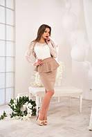 Платье Александра с гипюром и баска на поясе 1 ЛЯ