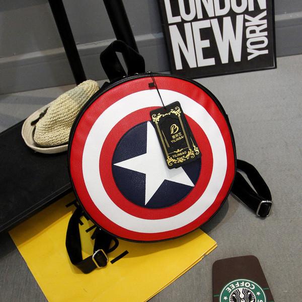 Рюкзак-щит,  Капитан Америка , малый ( код: IBR021sB )