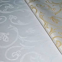 Teflon Виноград-150 Рис.10 Белая Скатертная ткань с пропиткой МВО