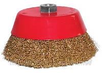 Щетка торцевая из рифленой проволоки для углошлифовальных машин 75 м14