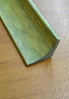 Молдинг угловой внутренний 1850х15х15 мм серо-зеленый