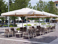 Зонт летней площадки 4х4м