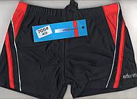 Плавки шорты купальные подросток Atlantis Beach, 40-46 размер, чёрно-красные, 706