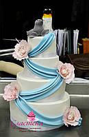 Мастичный свадебный торт на заказ Киев
