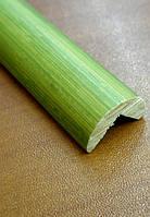 Молдинг угловой наружный 1850х20х5 мм зеленый