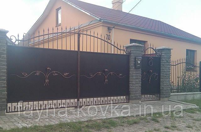 Кованные ворота 1173, фото 1