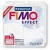 Брусок Fimo Effect  белый глиттер 052 - 56гр.