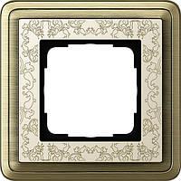 Рамка 1-пост. GIRA ClassiX Art бронза/кремовый