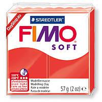 Полимерная глина пластика Фимо  Fimo Soft индийский красный 24 - 56гр